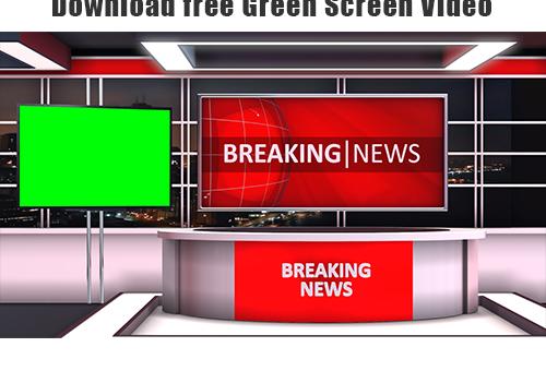 Virtual studio news desk 2021 free green screen video