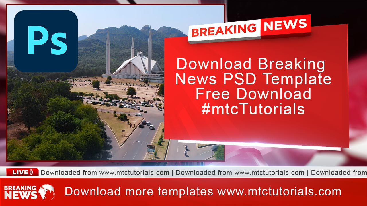 Breaking Graphics Bumper free PSD 2021