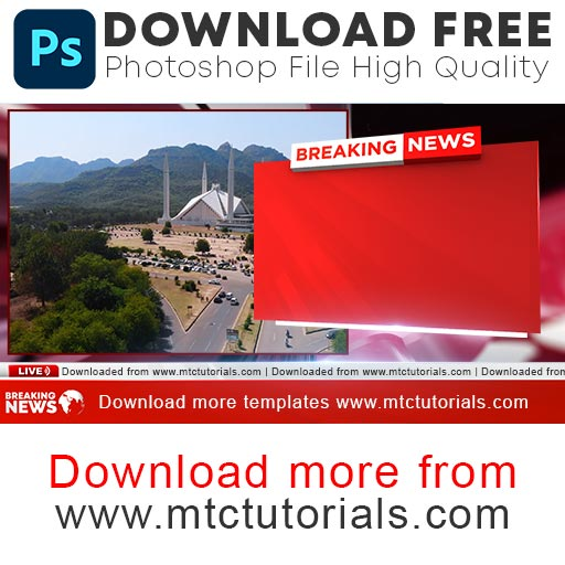 Breaking news graphics free PSD file download