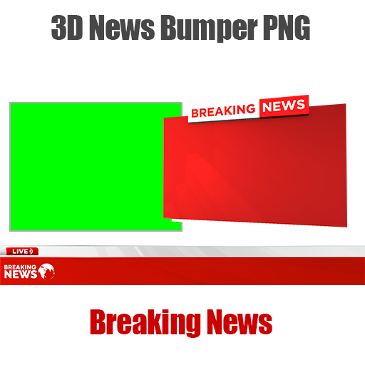 News lower third and Breaking News bumper png mtc tutorials
