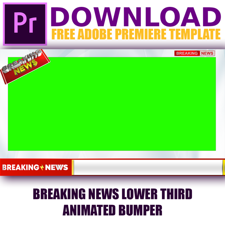 Free Adobe Premier template for YouTube News Chann