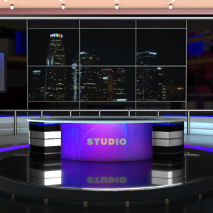 4K News Studio Images, Backgrounds