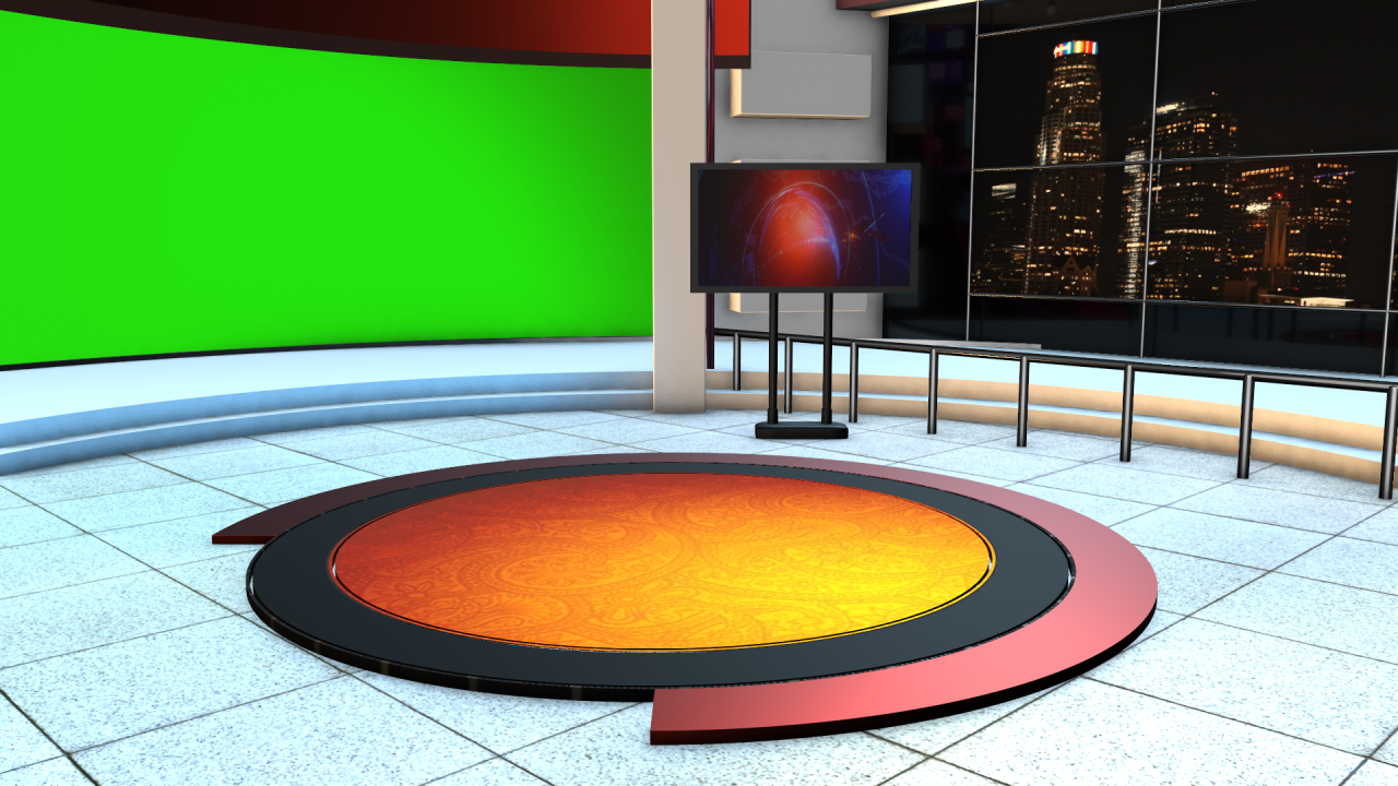 4K News Studio Images, Backgrounds