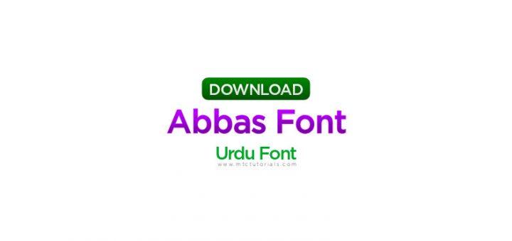 Abbas urdu font