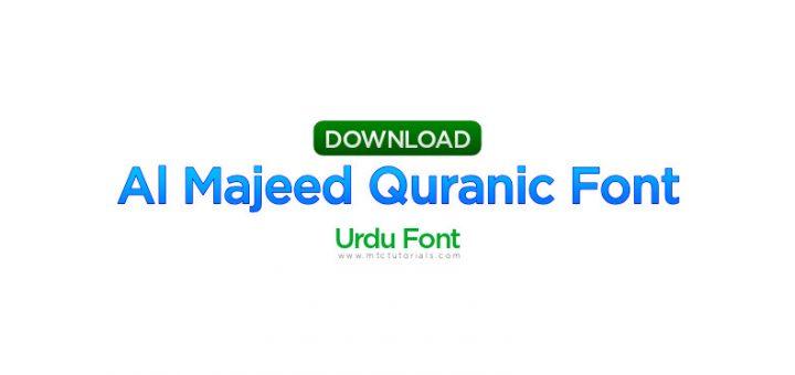 Al Majeed Quranic Font_shiped