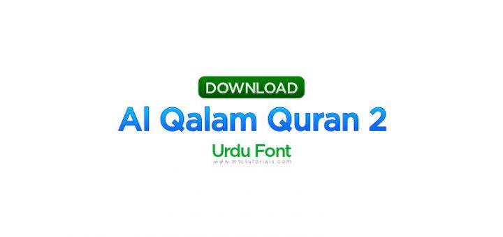 Al Qalam Quran 2 font