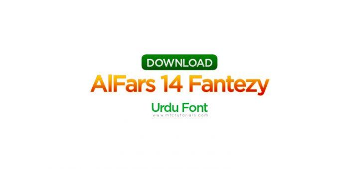 AlFars 14 Fantezy urdu Font