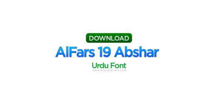 AlFars 19 Abshar urdu font