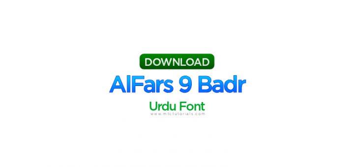 AlFars 9 Badr urdu font