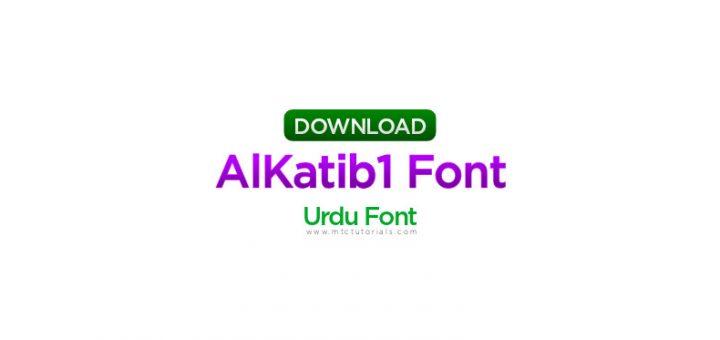 AlKatib1 urdu font
