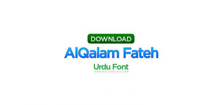 AlQalam Fateh urdu font