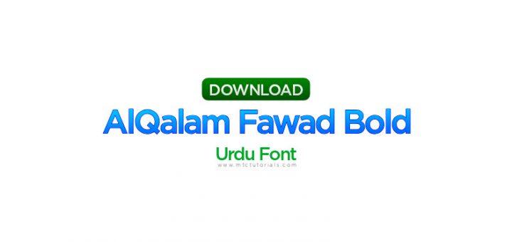 AlQalam Fawad Bold font