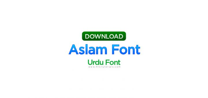 Aslam font