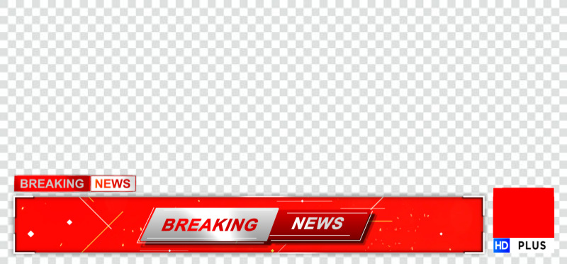Breaking news ticker and logo png