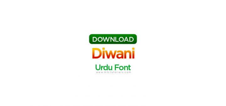 Diwani font urdu