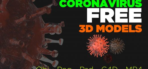 Download free coronavirus 3d models