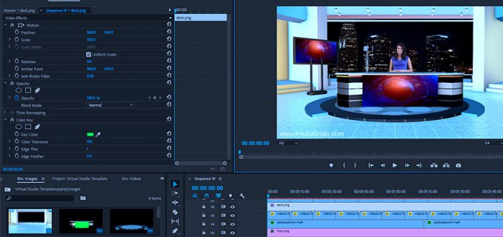 Download news studio desk free adobe premiere template