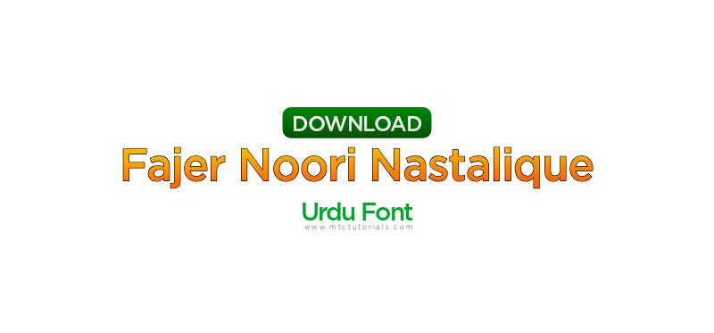 Fajer Noori Nastalique