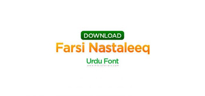 Farsi Nastaleeq Font urdu