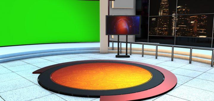High quality virtual studio green screen
