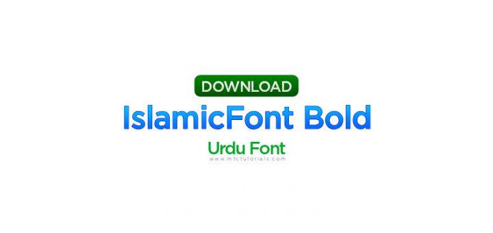 IslamicFont Bold