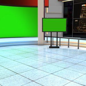 Kinemaster news studio green screen