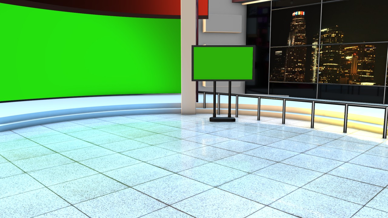 Kinemaster news studio green screen