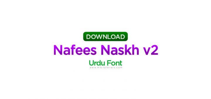 Nafees Naskh v2.01