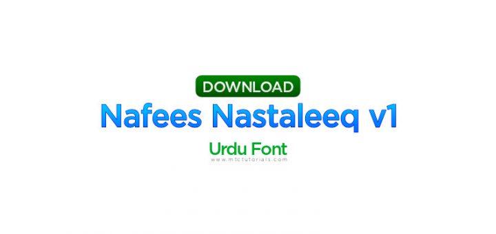Nafees Nastaleeq v1.02