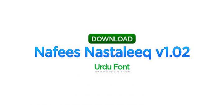 Nafees Nastaleeq v1.02(VOLT project)