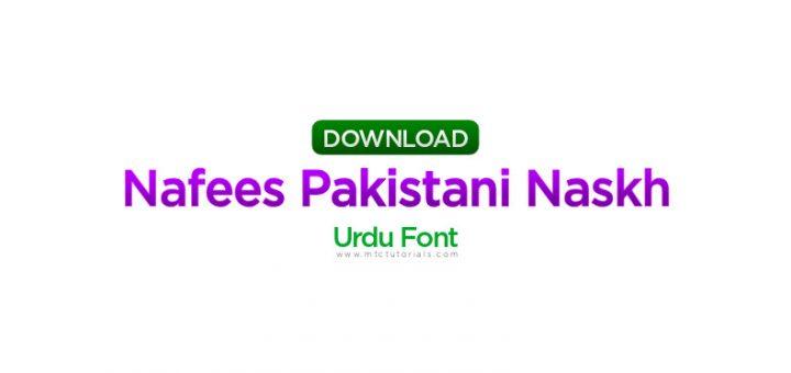 Nafees Pakistani Naskh v2.01