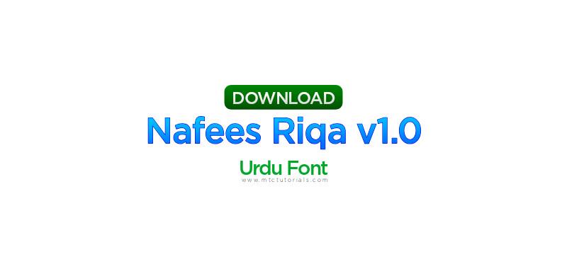 Nafees Riqa v1.0
