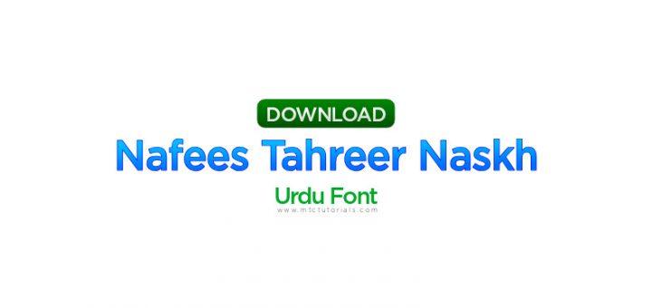 Nafees Tahreer Naskh v1.01
