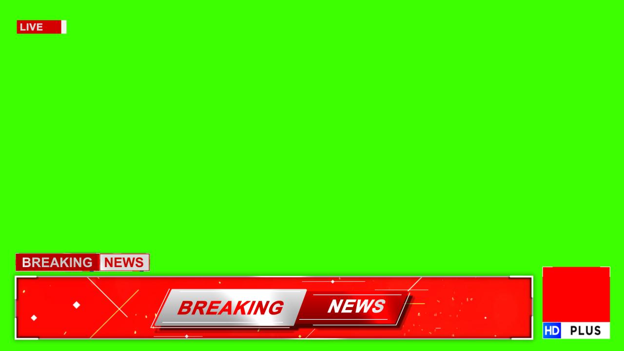 News channel lowerthird Green screen effects template