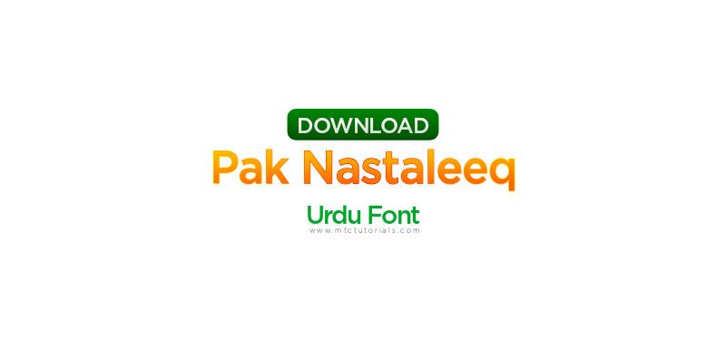 Pak Nastaleeq urdu font