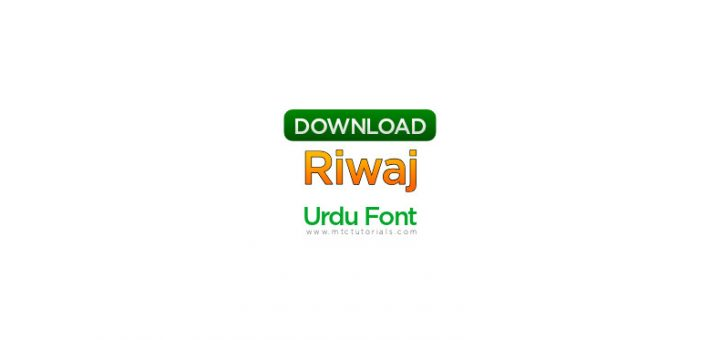 Riwaj urdu fonta