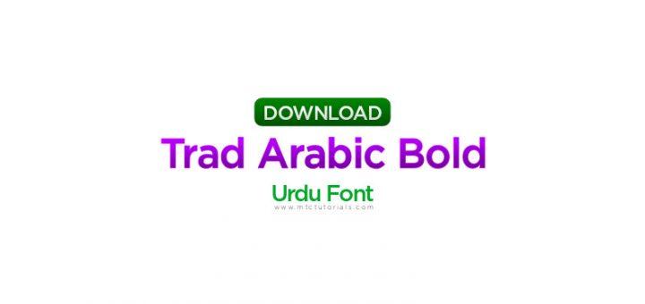 Trad Arabic Bold font