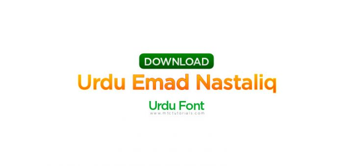 Urdu Emad Nastaliq urdu font