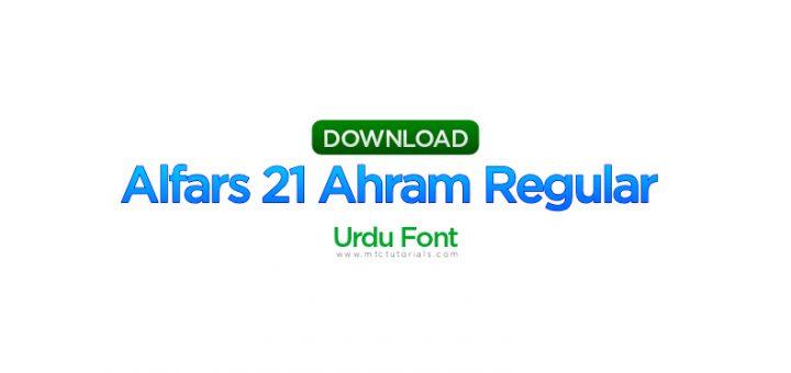 alfars 21 ahram regular urdu font