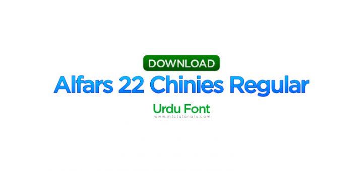 alfars 22 chinies regular urdu font