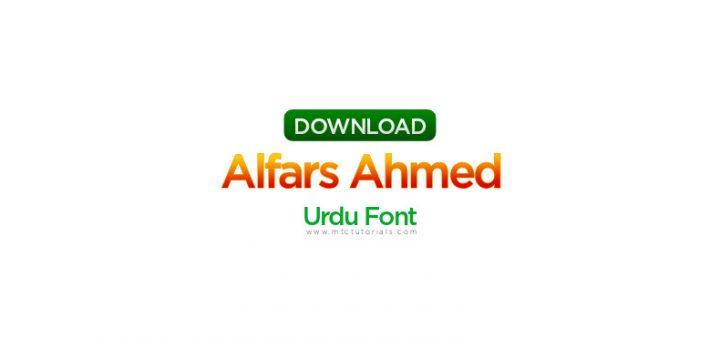 alfars Ahmed Fonts