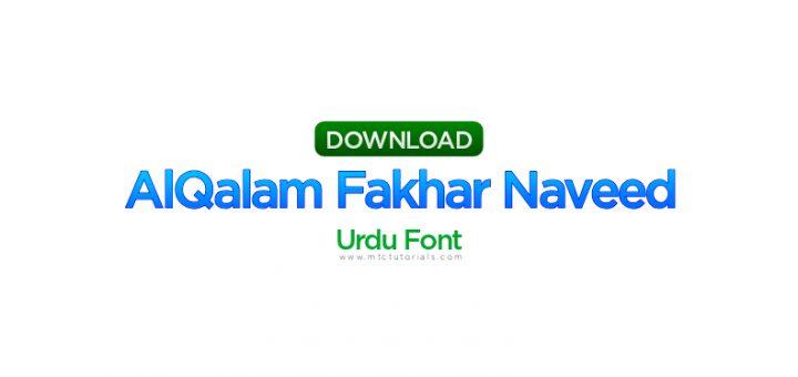 alqalam fakhar naveed regular font