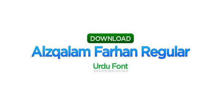 alqalam farhan regular 1 urdu font
