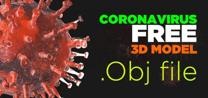 coronavirus free 3d model download obj file