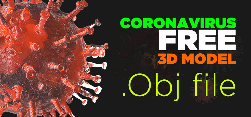 coronavirus free 3d model download obj file