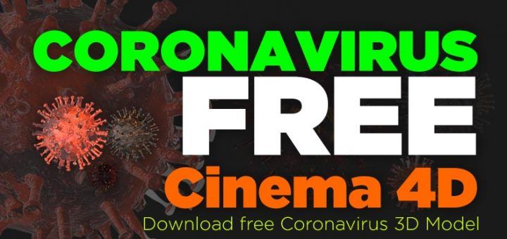coronavirus free cinema 4d model download