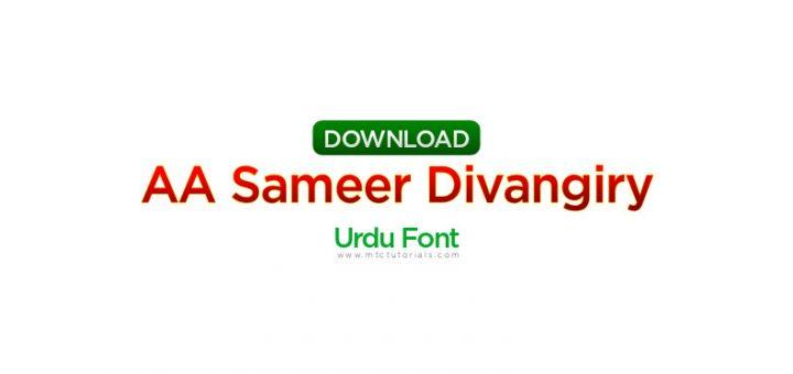 noid AA Sameer Divangiry
