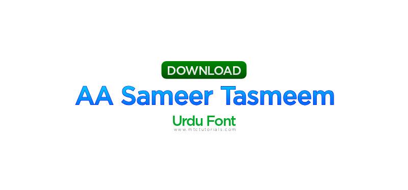 noid AA Sameer Tasmeem Bold