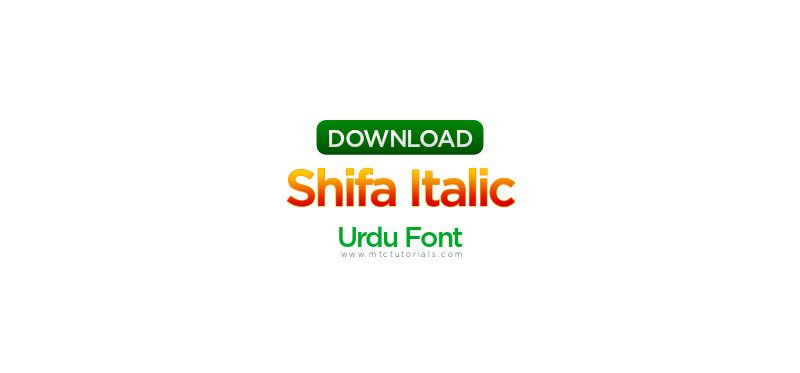 shifa fonts urdu