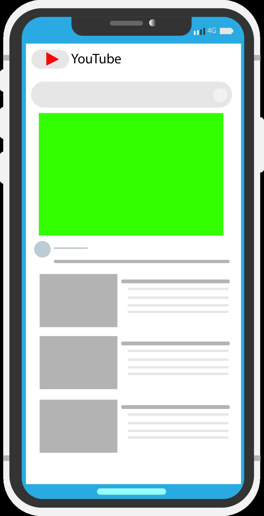 Mobile model free illustrator template youtube interface